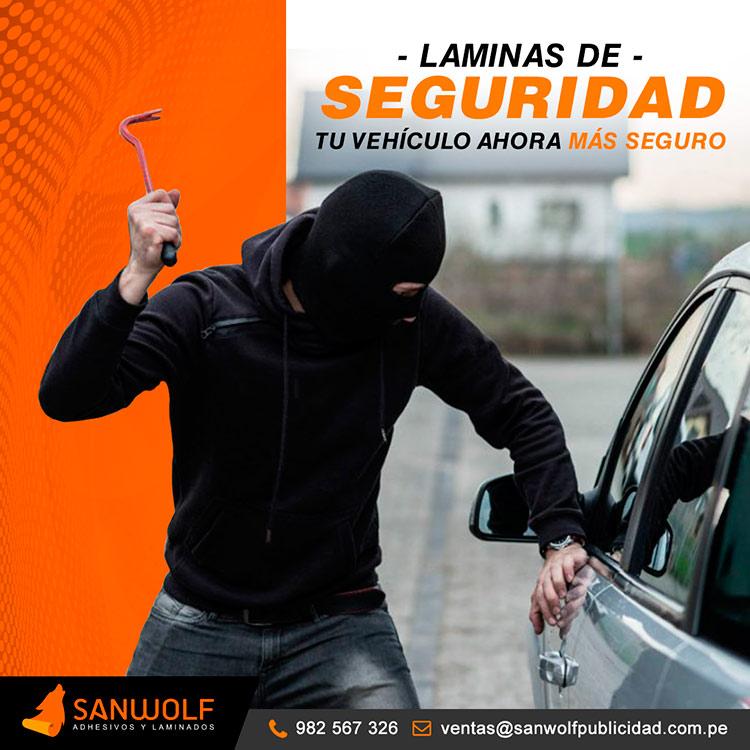 Laminas de seguridad ventanas carros peru